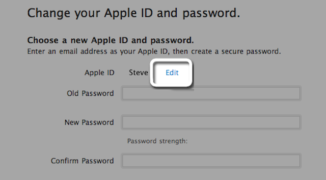 How to change apple id connected to iphone