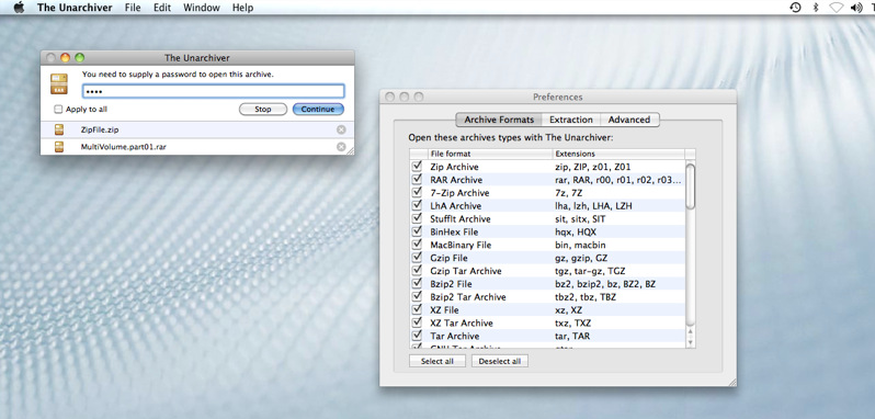 how to open rar files in mac using unarchiver