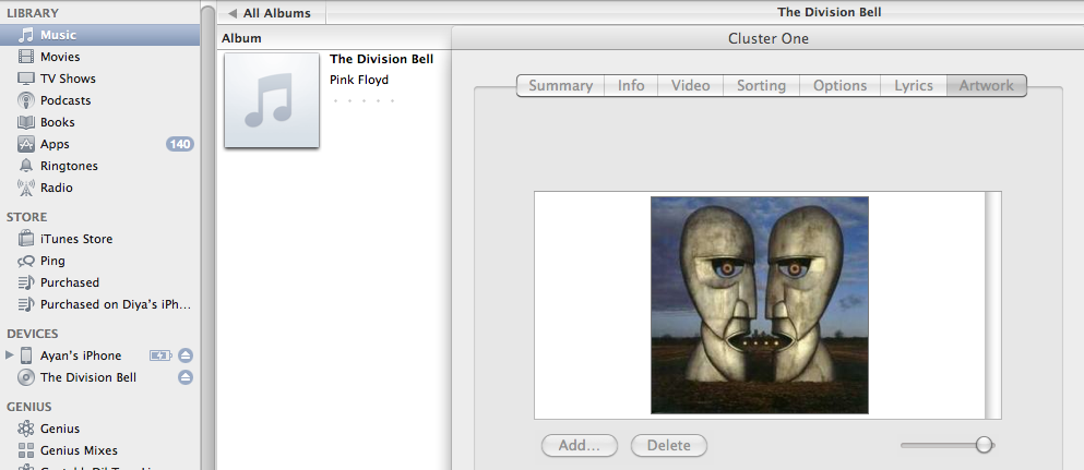 how to add album artwork to iTunes