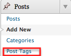 post tags