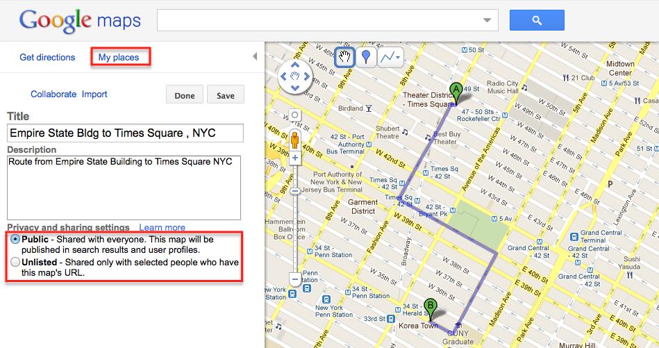 Create Google Maps