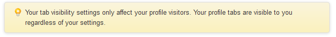 Google+Tab visibility