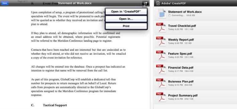 create pdf from ipad