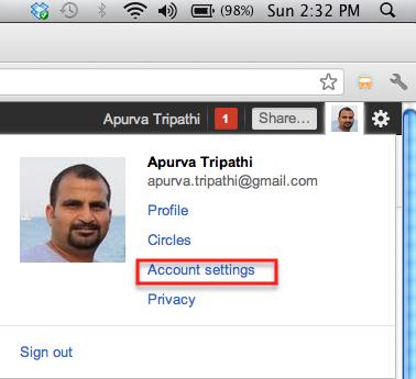 google plus account settings