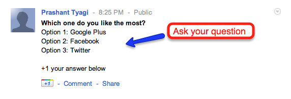 post poll on google+