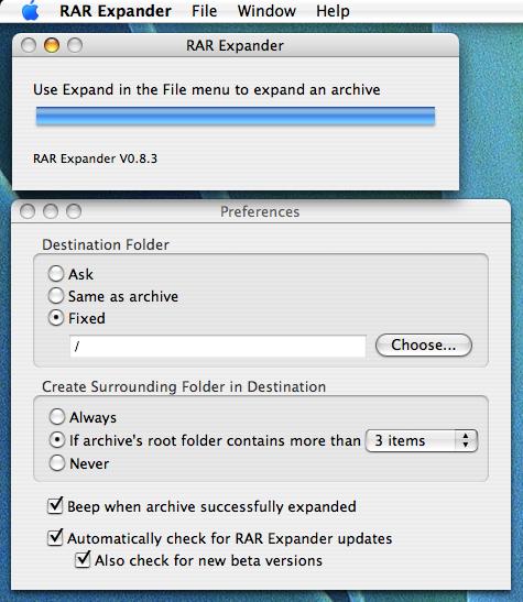 rar expander screenshot