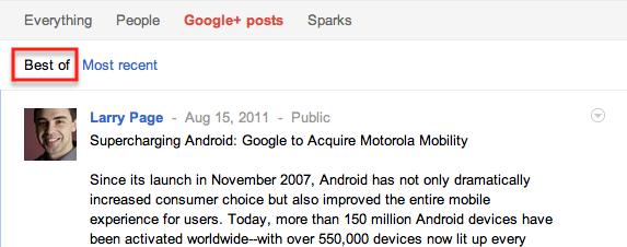 Best of google+posts