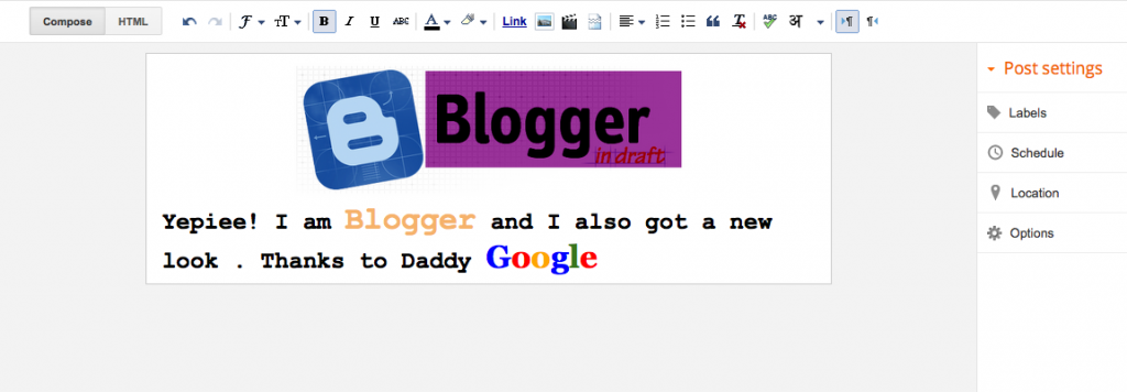 Blogger's new Look