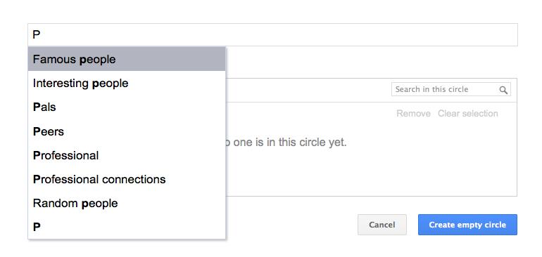 Google+ helps create circles