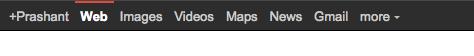 Google plus bar on web