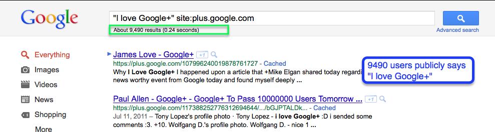 I love Google+