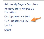RSS feed for Facebook page