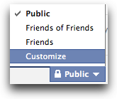customize privacy settings