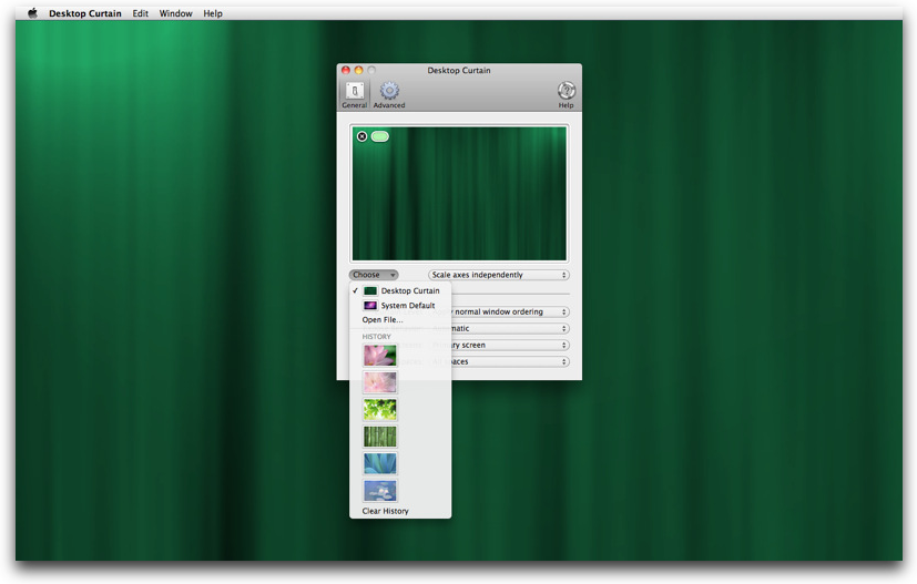 desktop curtain