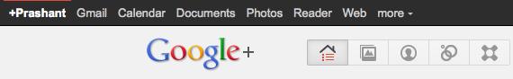 google plus bar in google plus