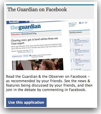 guardian app on facebook