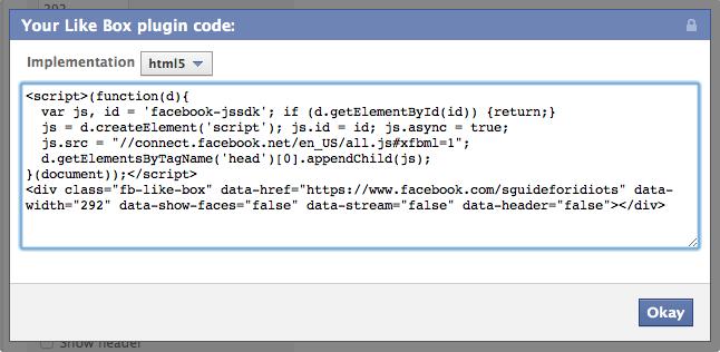 html5 for facebook plugins