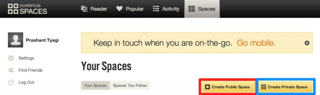 creating posterous spaces