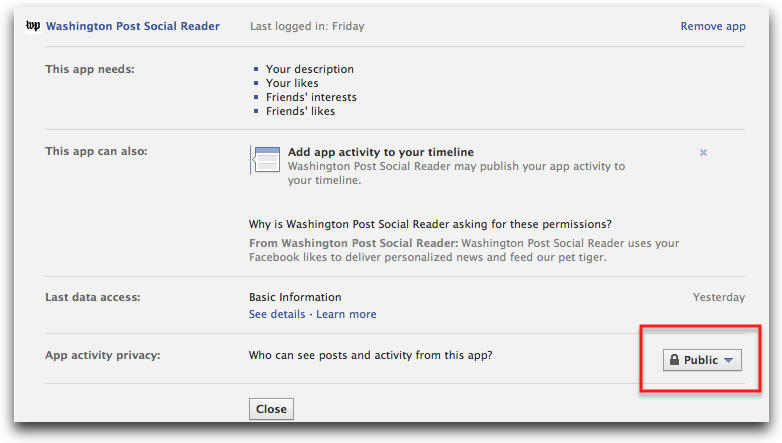 social reader change privacy
