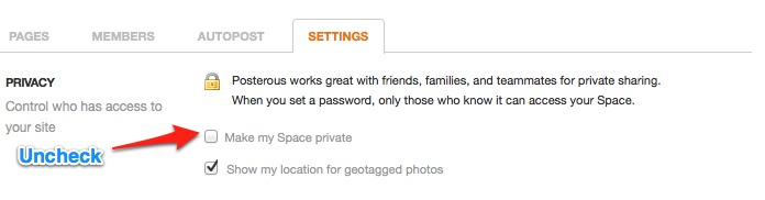 make private space public