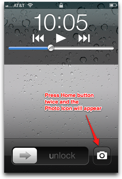 get to camera asap in iOS5