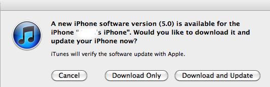 upgrade to iOS 5