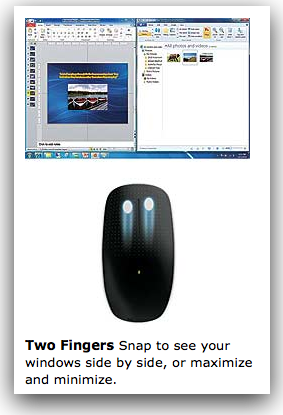 Microsoft Touch Mouse 2 finger gesture