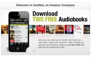 get 2 free audiobooks