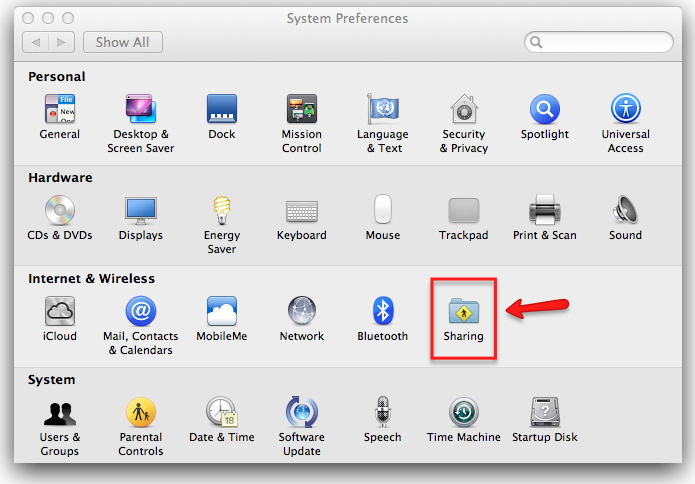 how to open system preferences on mac