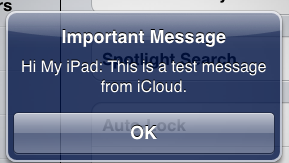 receiving message on iPad