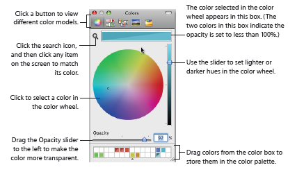 keynote colors window