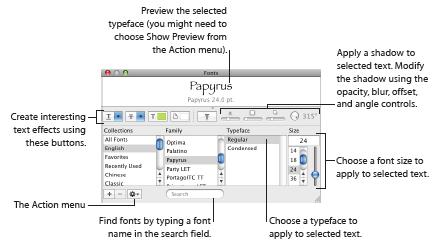 keynote font window