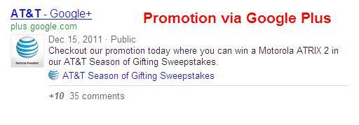 promo via Google+ pages