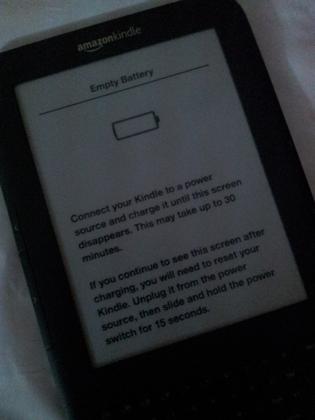 Kindle paperwhite screen frozen won t reset
