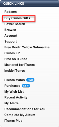 buy itunes gifts