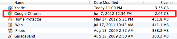 Huge space consumed by Chrome - delete old versions of Chrome on Mac