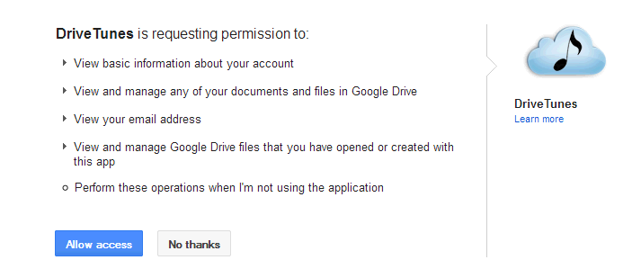 how to add music to google drive