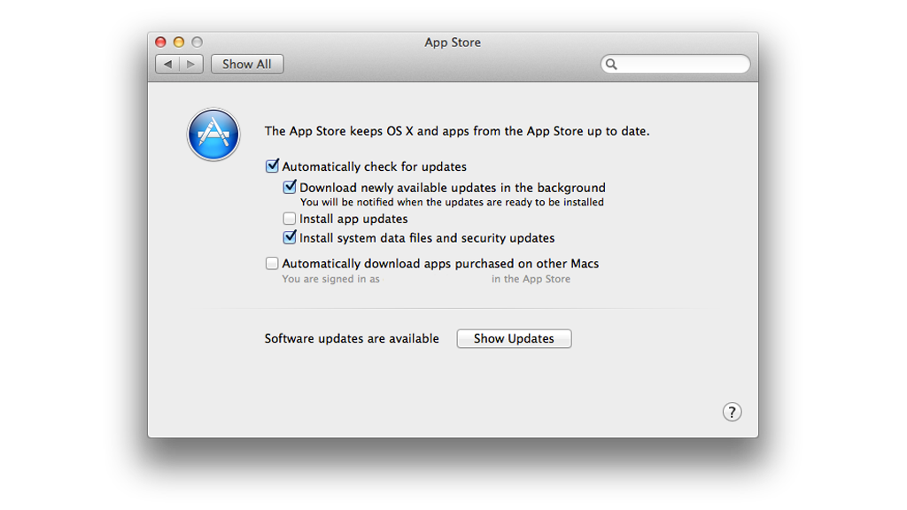 osx install updates automatically