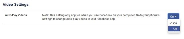 disable auto play of facebook videos