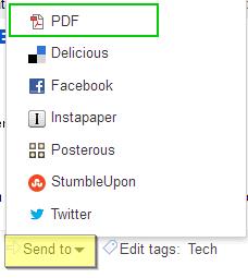 Google Reader Article as PDF