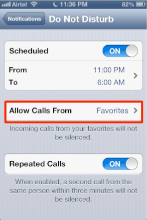 how to schedule do not disturb