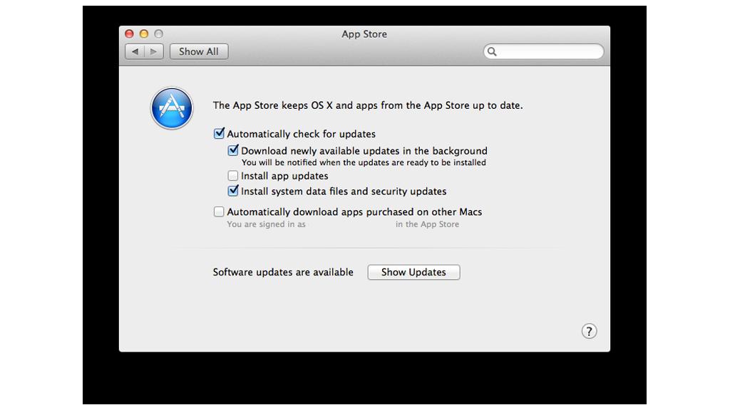 osx install updates automatically