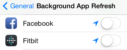 save iphone battery from facebook drain
