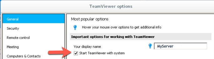 auto start teamviewer in linux